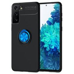 Etui na telefon RING HOLDER 4w1 niebieskie do Samsung Galaxy S21+ Plus