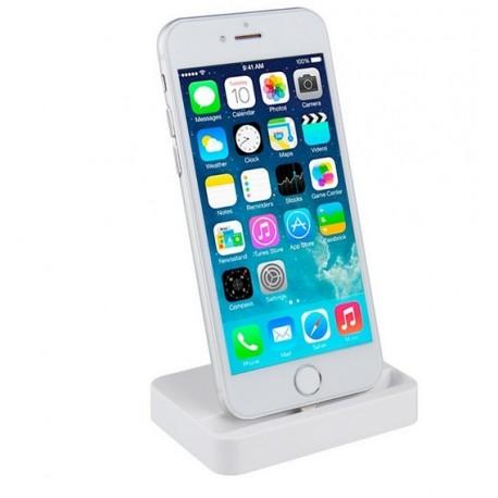 Stacja dokująca, ładowarka do iPhone 5 / 5S / SE / 6 / 6S / 6 Plus / 6S Plus + Kabel 8pin - BIAŁA