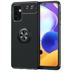Etui na telefon Ring Holder 4w1 Czarne do Samsung Galaxy A32 5G