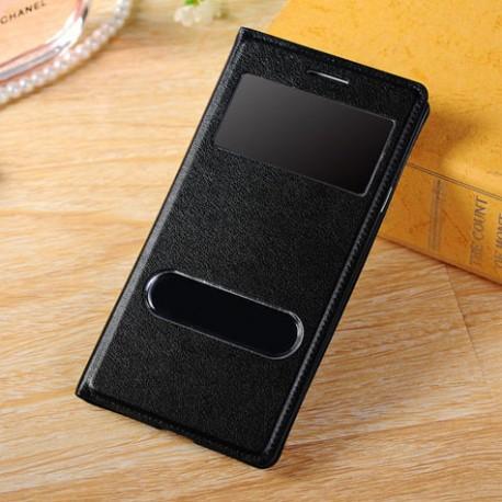 Do Samsung Galaxy S3 / S3 Neo futerał Flip Cover S-View Skórka - CZARNY