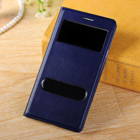 Do Samsung Galaxy S3 / S3 Neo futerał Flip Cover S-View Skórka - GRANATOWE