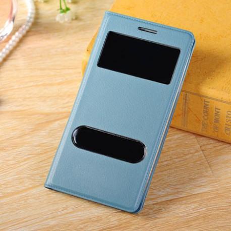 Do Samsung Galaxy S3 / S3 Neo futerał Flip Cover S-View Skórka - NIEBIESKIE