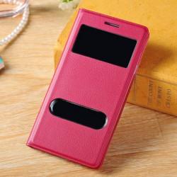 Do Samsung Galaxy S3 / S3 Neo futerał Flip Cover S-View Skórka - CZERWONE
