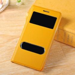 Do Samsung Galaxy S3 / S3 Neo futerał Flip Cover S-View Skórka - ŻÓŁTE