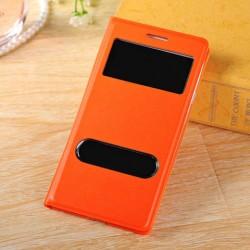 Do Samsung Galaxy S3 / S3 Neo futerał Flip Cover S-View Skórka - POMARAŃCZOWE