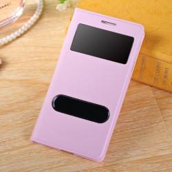 Do Samsung Galaxy S3 / S3 Neo futerał Flip Cover S-View Skórka - RÓŻOWE