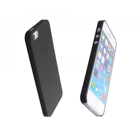 iPhone 5 / 5S / SE etui Bumper SLIMEST 0,3mm + Folia - CZARNE