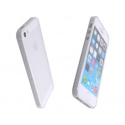 iPhone 5 / 5S / SE etui Bumper SLIMEST 0,3mm + Folia - MLECZNE