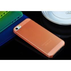 iPhone 4 / 4S / 4G etui Bumper SLIMEST 0,3mm + Folia - POMARAŃCZOWE