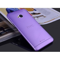 HTC One M7 etui Bumper SLIMEST 0,3mm + Folia - FIOLETOWE