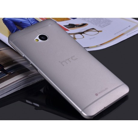 HTC One M7 etui Bumper SLIMEST 0,3mm + Folia - GRAFITOWE