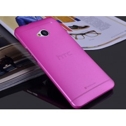 HTC One M7 etui Bumper SLIMEST 0,3mm + Folia - RÓŻOWE