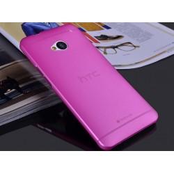 HTC One M7 etui Bumper SLIMEST 0,3mm + Folia - RÓŻOWE