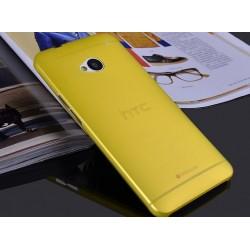 HTC One M7 etui Bumper SLIMEST 0,3mm + Folia - ŻÓŁTE