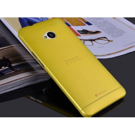 HTC One M7 etui Bumper SLIMEST 0,3mm + Folia - ŻÓŁTE