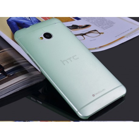 HTC One M7 etui Bumper SLIMEST 0,3mm + Folia - ZIELONE