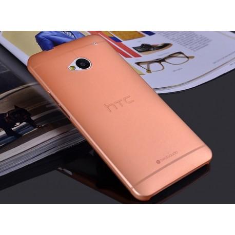 HTC One M7 etui Bumper SLIMEST 0,3mm + Folia - POMARAŃCZOWE