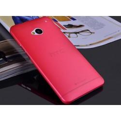 HTC One M7 etui Bumper SLIMEST 0,3mm + Folia - CZERWONE