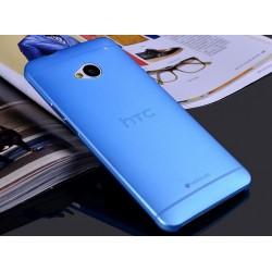 HTC One M7 etui Bumper SLIMEST 0,3mm + Folia - NIEBIESKIE