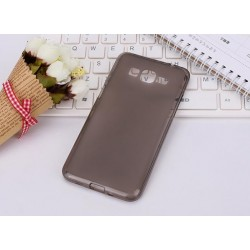 Samsung Galaxy Grand Prime Etui Silikonowe Pudrowe + Folia - CZARNE
