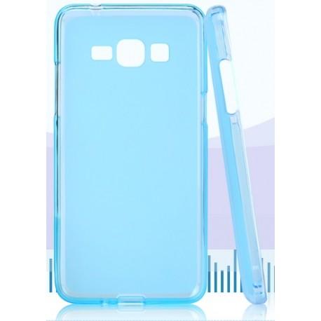 Samsung Galaxy Grand Prime Etui Silikonowe Pudrowe + Folia - NIEBIESKIE