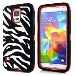 Samsung Galaxy S5 / S5 Neo etui Pancerna Zebra - CZERWONE