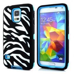 Samsung Galaxy S5 / S5 Neo etui Pancerna Zebra - NIEBIESKIE