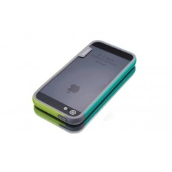 iPhone 4 / 4G / 4S  etui Bumper TRIO CASE - ZIELONE