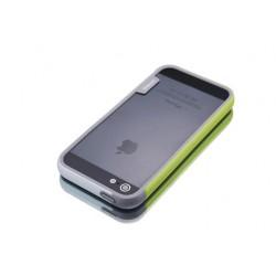 iPhone 4 / 4G / 4S  etui Bumper TRIO CASE - BIAŁO-ZIELONE