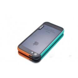 iPhone 4 / 4G / 4S  etui Bumper TRIO CASE - NIEBIESKO-POMARAŃCZOWE