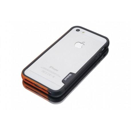 iPhone 4 / 4G / 4S  etui Bumper TRIO CASE - POMARAŃCZOWO-CZARNE