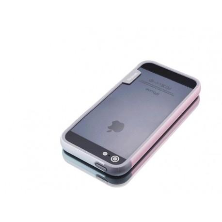 iPhone 4 / 4G / 4S  etui Bumper TRIO CASE - BIAŁO-RÓŻOWE