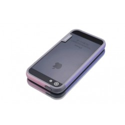 iPhone 4 / 4G / 4S  etui Bumper TRIO CASE - RÓŻOWO-FIOLETOWE