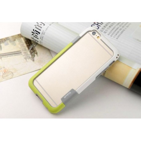iPhone 6 / 6S  etui Bumper TRIO CASE - BIAŁO-ZIELONY