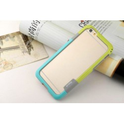 iPhone 6 / 6S  etui Bumper TRIO CASE - ZIELONO-NIEBIESKIE