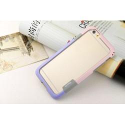 iPhone 6 / 6S  etui Bumper TRIO CASE - FIOLETOWO-RÓŻOWE
