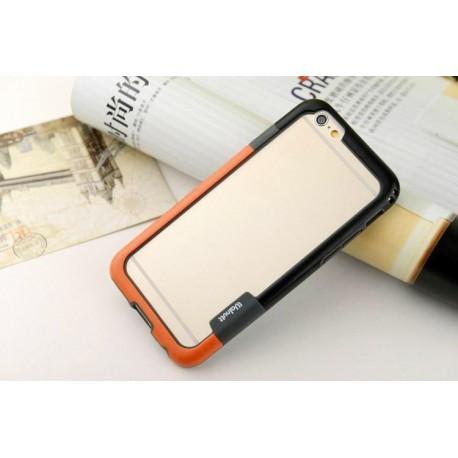iPhone 6 / 6S  etui Bumper TRIO CASE - POMARAŃCZOWO-CZARNE