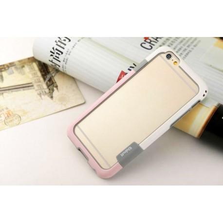 iPhone 6 / 6S  etui Bumper TRIO CASE - RÓŻOWO-BIAŁE