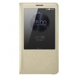 Do Huawei Mate 9 inteligentne etui Flip Cover S-View Case- ZŁOTE