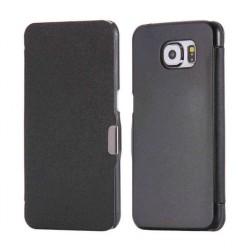 Samsung Galaxy S6 etui Flip Cover Magnet LUX  - CZARNE