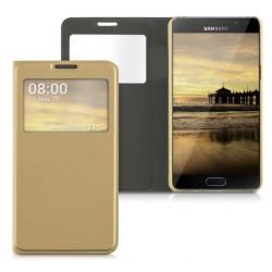 Do Samsung Galaxy A5 2017  futerał etui Flip Cover Case- ZŁOTE