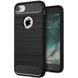 Etui Karbon ARMOR Guma iPhone 7 - Czarne