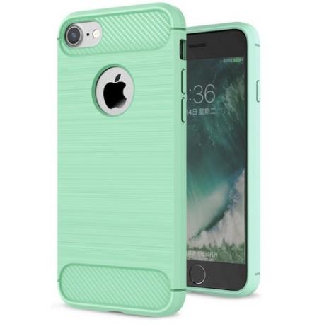 Etui Karbon ARMOR Guma iPhone 7 - Miętowe