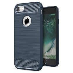 Etui Karbon ARMOR Guma iPhone 7 - Granatowe