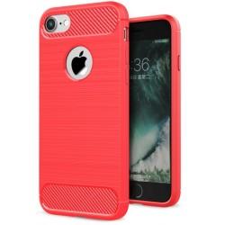 Etui Karbon ARMOR Guma iPhone 7 - Czerwone
