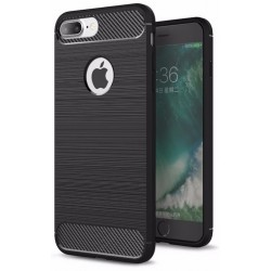Etui Karbon ARMOR Guma iPhone 7 Plus - Czarne