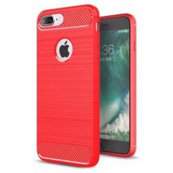 Etui Karbon ARMOR Guma iPhone 7 Plus - Czerowne