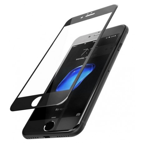 Szkło Hartowane 3D 9H iPhone 7 na Cały ekran - CZARNE
