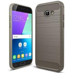 Etui Karbon ARMOR Guma Samsung Galaxy A3 2017- Grafitowe
