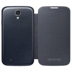 Do Samsung Galaxy S4, etui Flip Cover- CZARNE